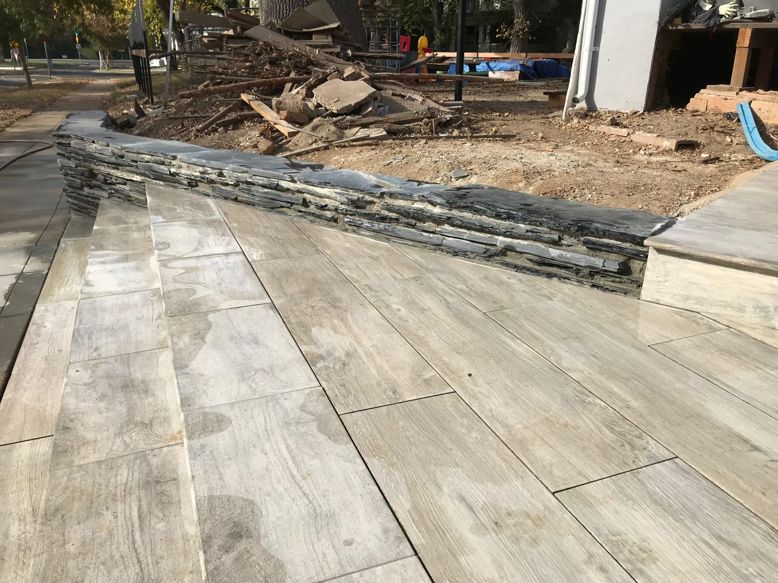 An image of finished concrete work in Chino Hills.