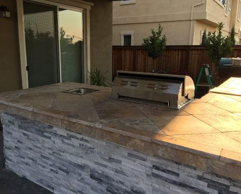 A picture f concrete countertops in Chino Hills.