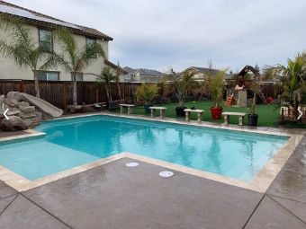 A picture of Chino Hills pool deck.