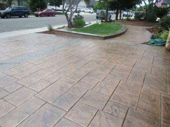 A picture of stamped driveway in Chino Hills.