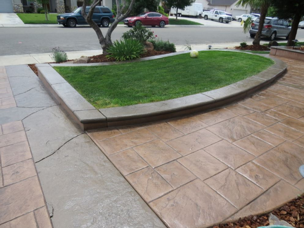 An image of concrete driveway in Chino Hills.