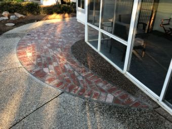 This image shows bricklayer work in Chino Hills.