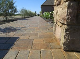 An image of finished concrete work in Chino Hill.
