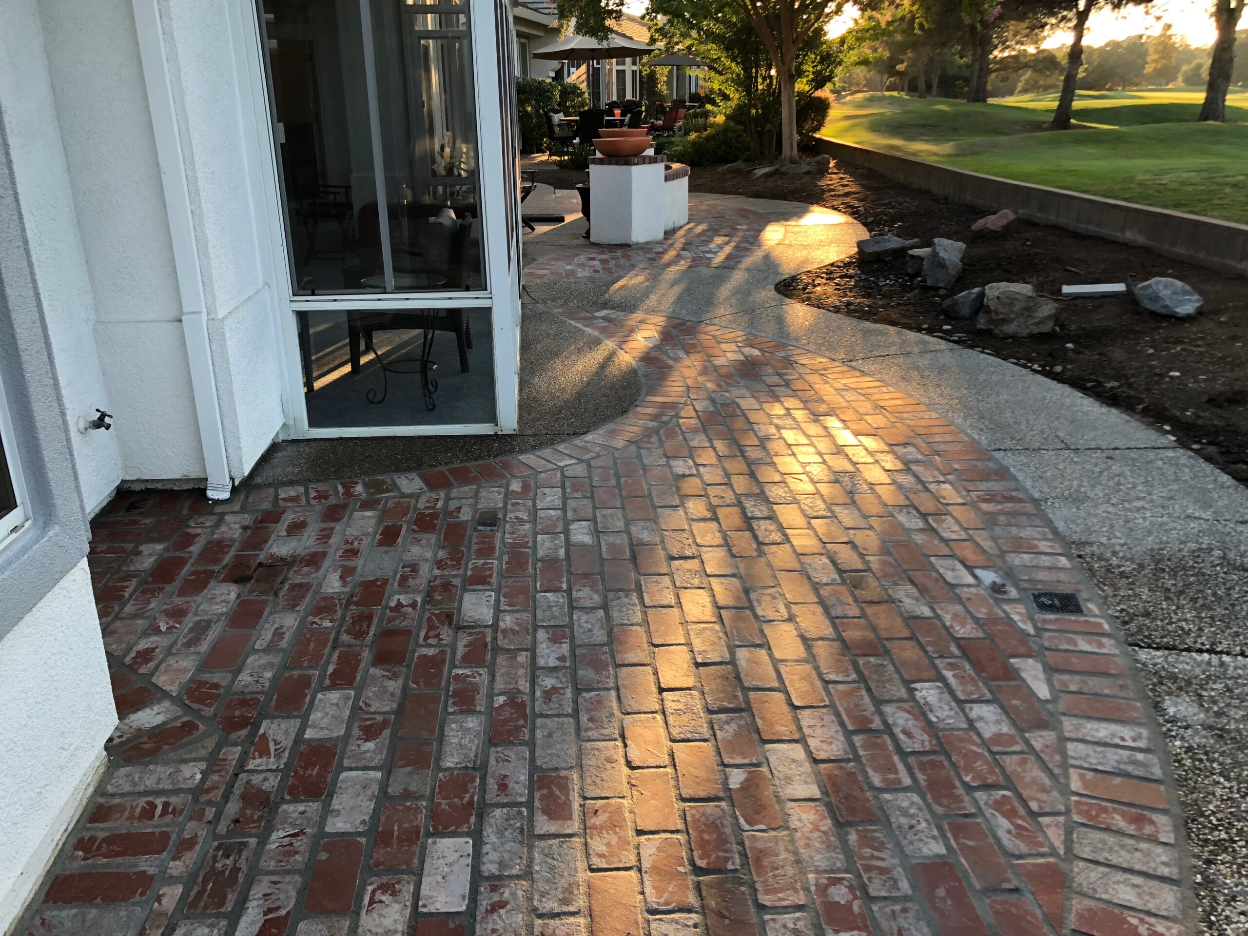 A picture of stamped patio in Chino Hills.