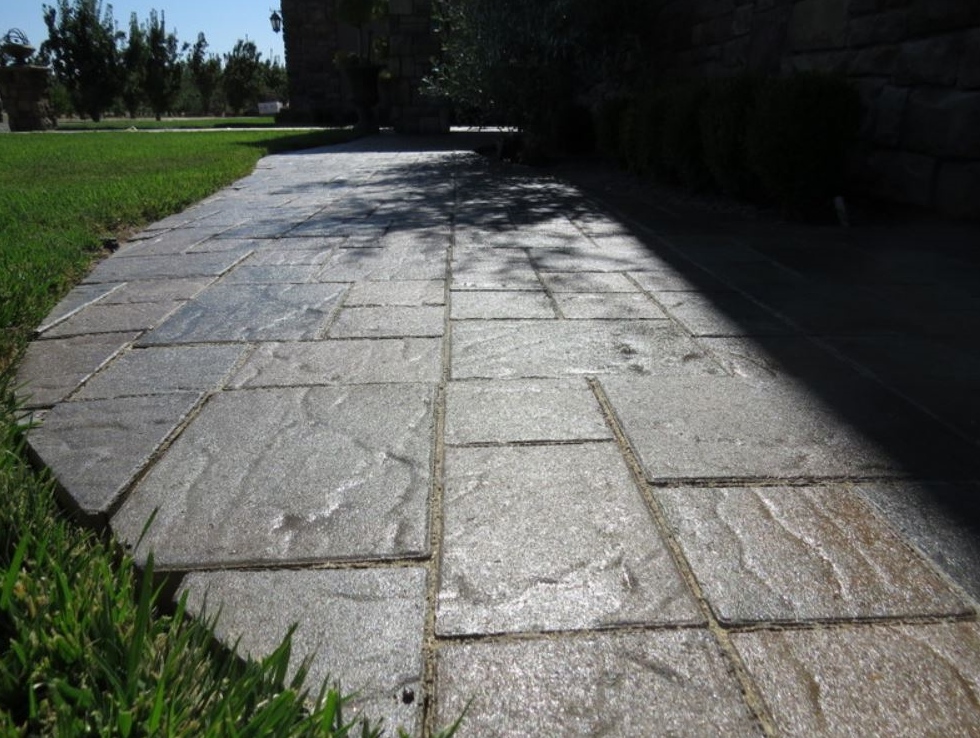this is an image of concrete finishing in Chino Hills