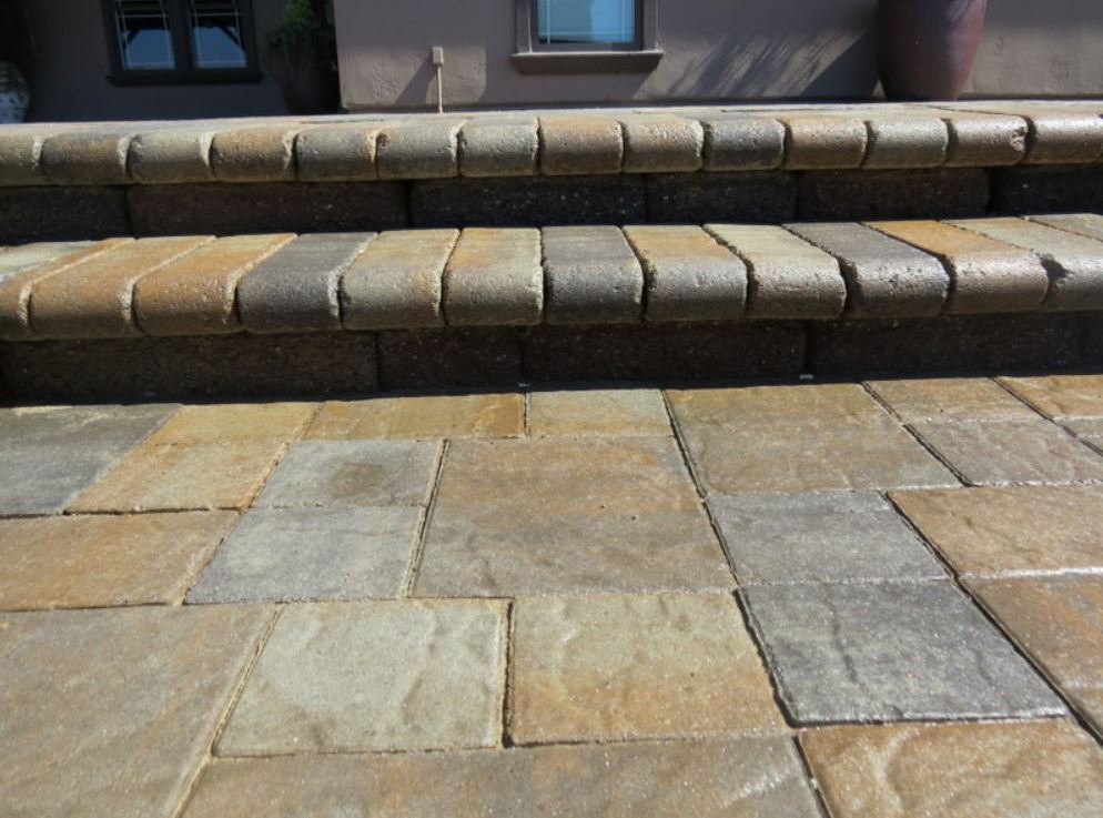 A picture of stamped concrete in Chino Hills.