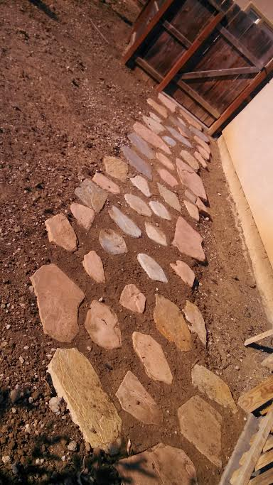 This is a picture of stone pavers in Chino Hills.